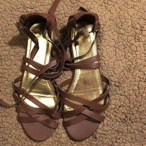 H&M Brown Gladiator Sandals   Size 5/6
